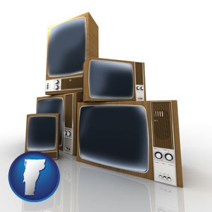 vintage televisions - with Vermont icon