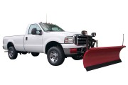 a pickup truck snowplow accessory