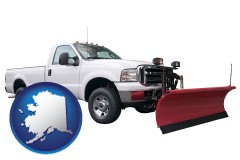 alaska map icon and a pickup truck snowplow accessory