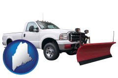 maine a pickup truck snowplow accessory
