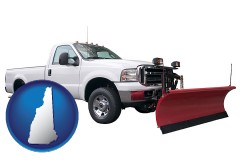 new-hampshire map icon and a pickup truck snowplow accessory