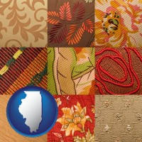 illinois upholstery fabric swatches