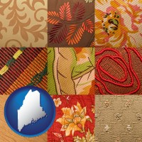 maine upholstery fabric swatches