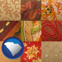 south-carolina upholstery fabric swatches