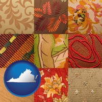 virginia upholstery fabric swatches