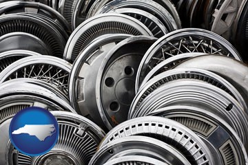 used hubcaps - with North Carolina icon
