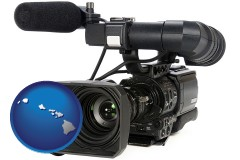hawaii a professional-grade video camera