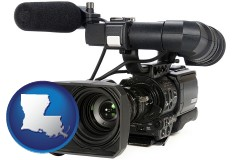 louisiana a professional-grade video camera