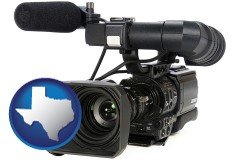 texas a professional-grade video camera
