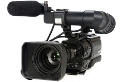 a professional-grade video camera