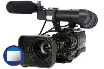 a professional-grade video camera - with Colorado icon
