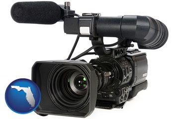 a professional-grade video camera - with Florida icon