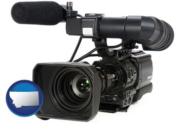 a professional-grade video camera - with Montana icon