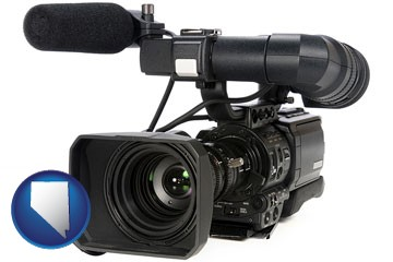 a professional-grade video camera - with Nevada icon