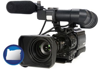 a professional-grade video camera - with Oregon icon