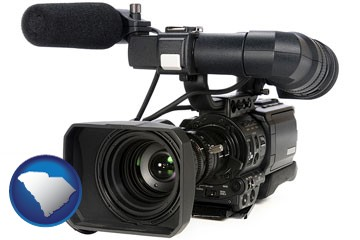 a professional-grade video camera - with South Carolina icon