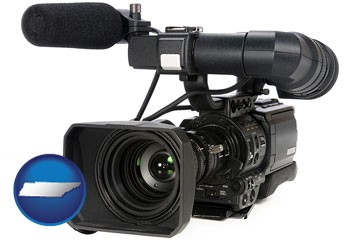 a professional-grade video camera - with Tennessee icon