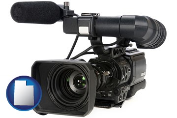a professional-grade video camera - with Utah icon