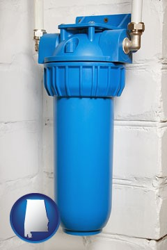 a water treatment filter - with Alabama icon