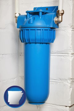 a water treatment filter - with Arkansas icon