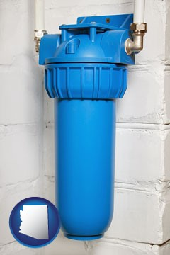 a water treatment filter - with Arizona icon