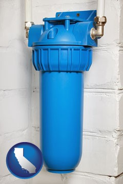a water treatment filter - with California icon