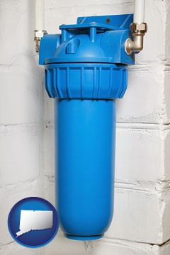 a water treatment filter - with Connecticut icon