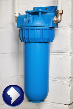 a water treatment filter - with Washington, DC icon