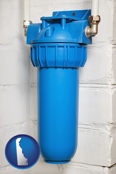 a water treatment filter - with Delaware icon