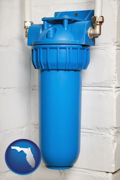 a water treatment filter - with Florida icon