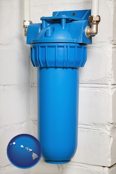 a water treatment filter - with Hawaii icon