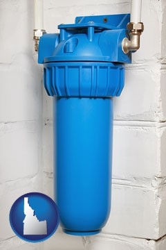a water treatment filter - with Idaho icon