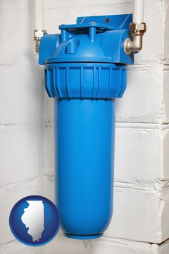 a water treatment filter - with Illinois icon