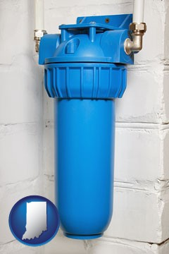 a water treatment filter - with Indiana icon