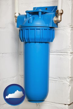 a water treatment filter - with Kentucky icon