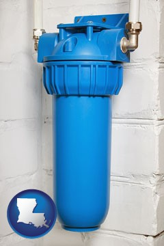 a water treatment filter - with Louisiana icon