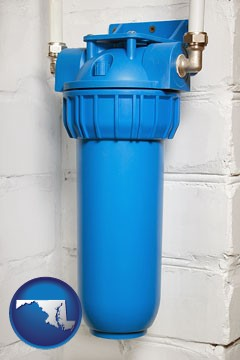 a water treatment filter - with Maryland icon