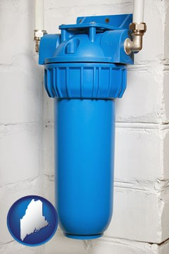 a water treatment filter - with Maine icon
