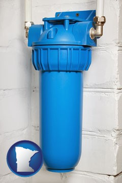 a water treatment filter - with Minnesota icon