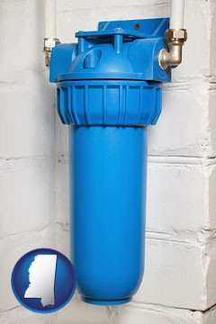 a water treatment filter - with Mississippi icon