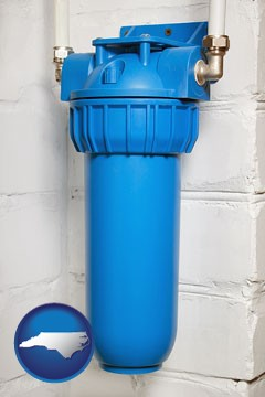 a water treatment filter - with North Carolina icon