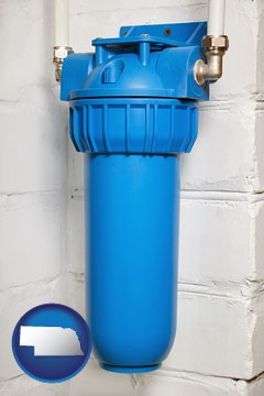 a water treatment filter - with Nebraska icon