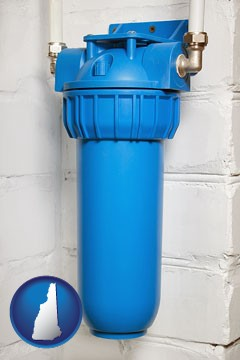 a water treatment filter - with New Hampshire icon