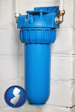 a water treatment filter - with New Jersey icon
