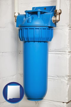 a water treatment filter - with New Mexico icon