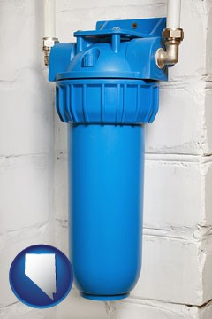 a water treatment filter - with Nevada icon