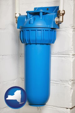 a water treatment filter - with New York icon