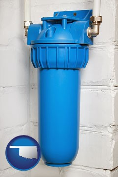 a water treatment filter - with Oklahoma icon