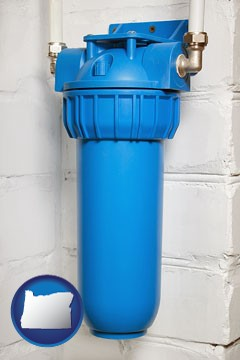 a water treatment filter - with Oregon icon
