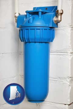 a water treatment filter - with Rhode Island icon
